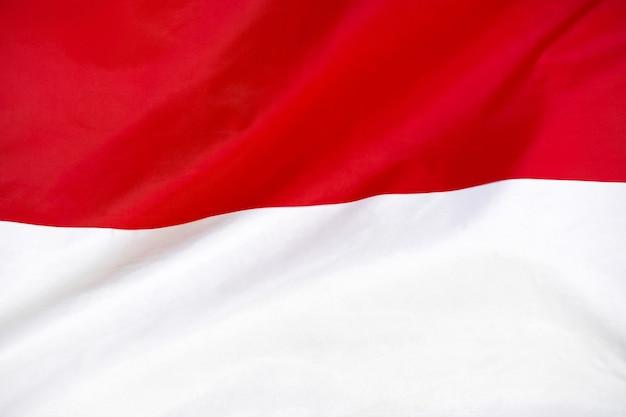 Bandeira de textura de tecido da indonésia.