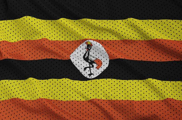 Bandeira de uganda impressa em uma malha de nylon de poliéster