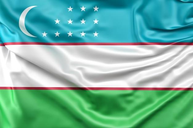 Bandeira de uzbequistão