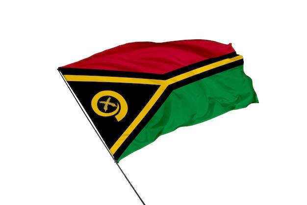 Bandeira de vanuatu em um fundo branco