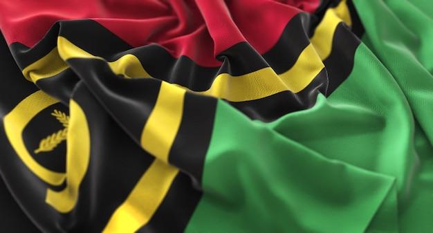 Bandeira de vanuatu ruffled beautifully waving macro close-up shot