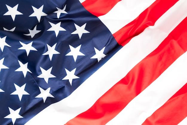 Bandeira de vista superior dos estados unidos da américa
