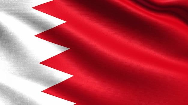 Bandeira do bahrein, com textura de tecido a acenar