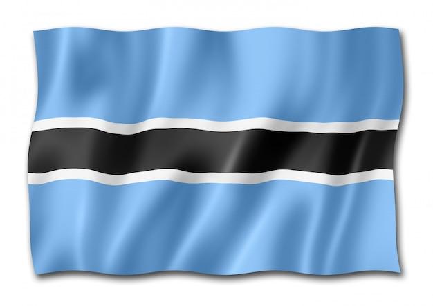 Bandeira do botswana isolada