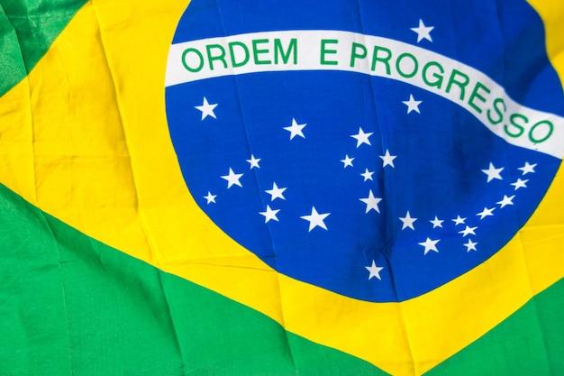 Bandeira do brasil ao ar livre no rio de janeiro brasil.