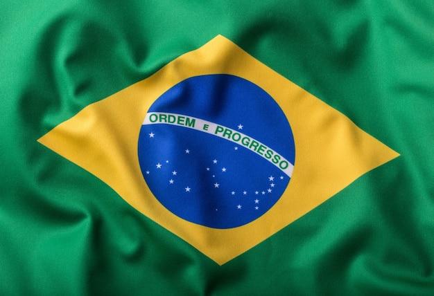 Bandeira do brasil. bandeira brasileira com o texto ordrm e progresso.