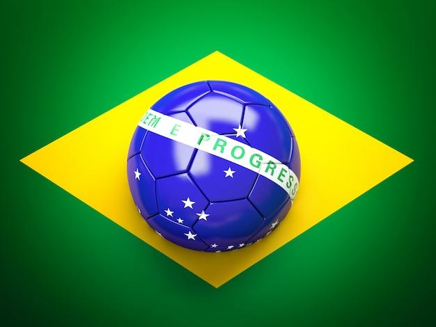 Bandeira do brasil de bola de futebol