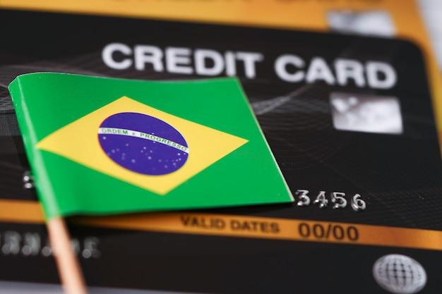 Bandeira do brasil no cartão de crédito