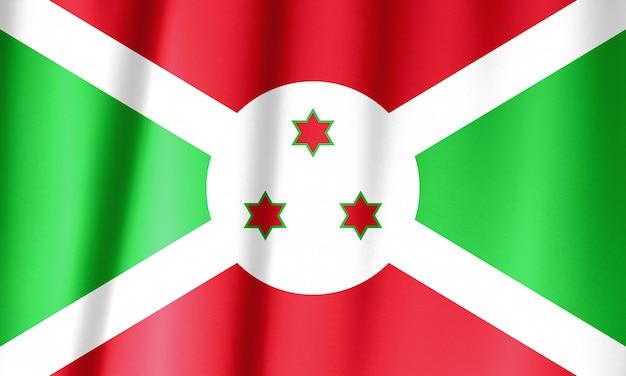 Bandeira do burundi acenando. bandeira nacional do burundi para o dia da independência.