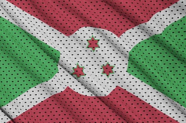 Bandeira do burundi impressa em um tecido de malha de nylon sportswear de poliéster