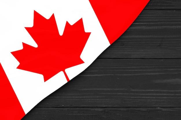 Bandeira do canadá cópia espaço