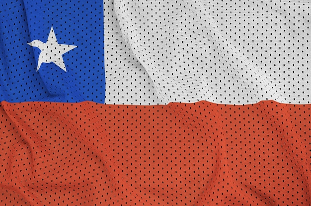 Bandeira do chile impressa em um tecido de malha de nylon para sportswear de poliéster