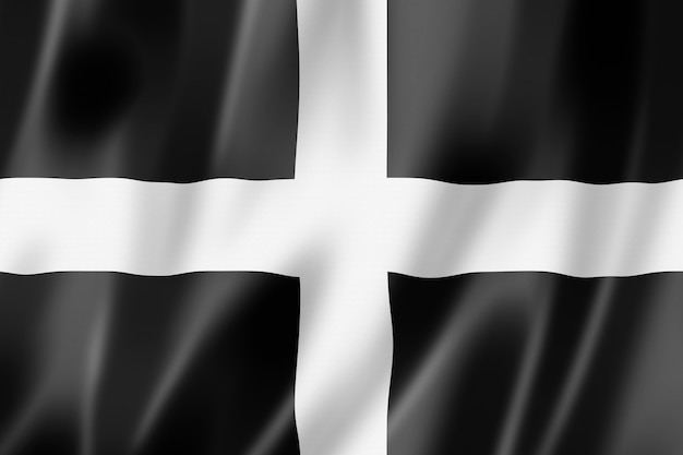 Bandeira do condado de cornwall, reino unido