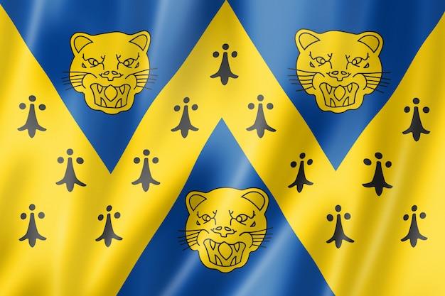 Bandeira do condado de shropshire, reino unido