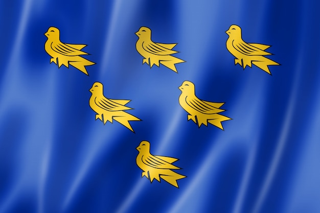 Bandeira do condado de sussex, reino unido