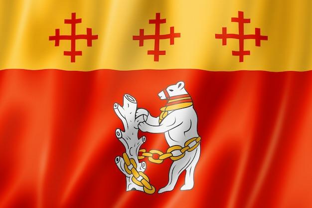 Bandeira do condado de warwickshire, reino unido