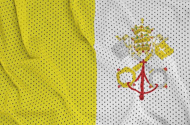 Bandeira do estado da cidade do vaticano impressa em um sportswear de nylon poliéster