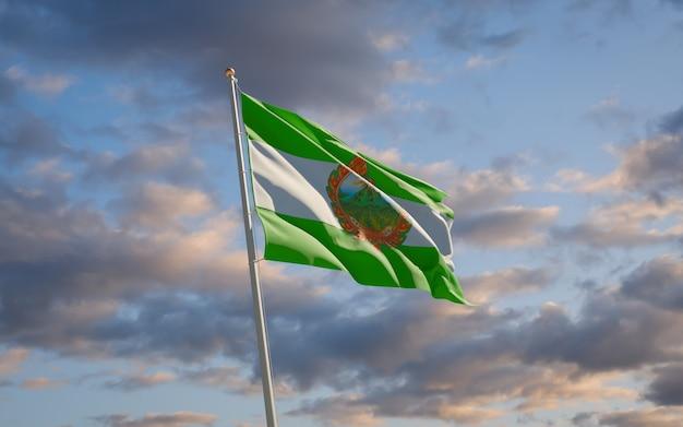 Bandeira do estado da província de phetchabun tailândia. arte 3d