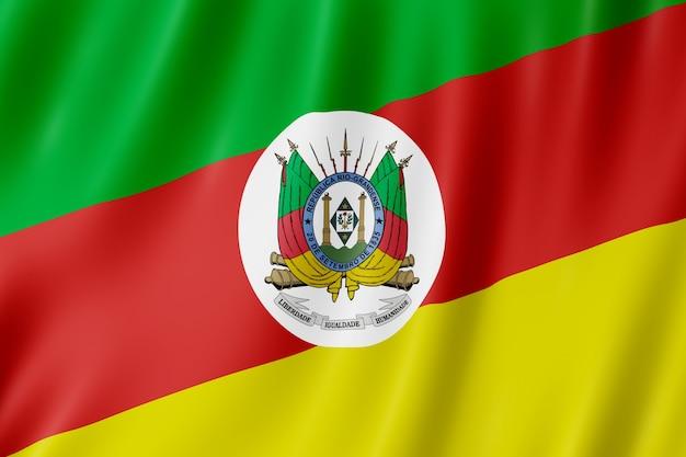 Bandeira do estado do rio grande do sul no brasil