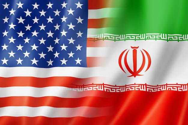 Bandeira do eua e irã