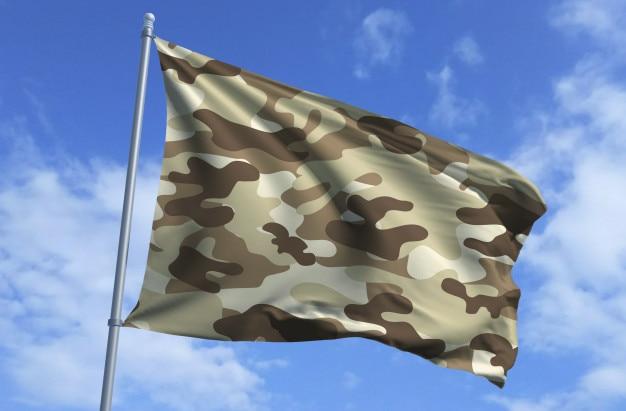 Bandeira do exército de camo do deserto
