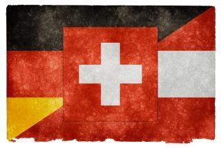 Bandeira do grunge língua alemã