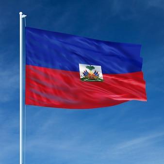 Bandeira do haiti voando