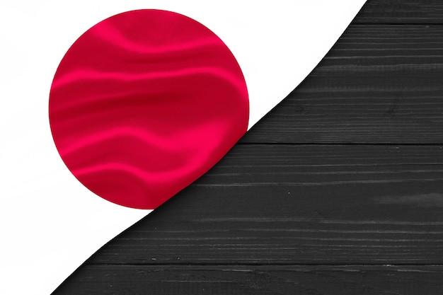 Bandeira do japão cópia espaço