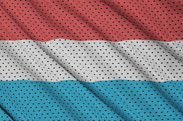 Bandeira do luxemburgo impressa em tecido de malha de nylon para sportswear de poliéster
