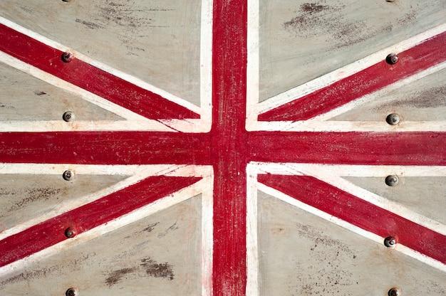 Bandeira do metal do reino unido