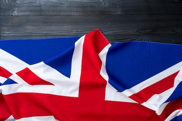 Bandeira do reino unido em madeira
