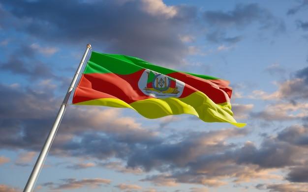 Bandeira do rio grande do sul. arte 3d
