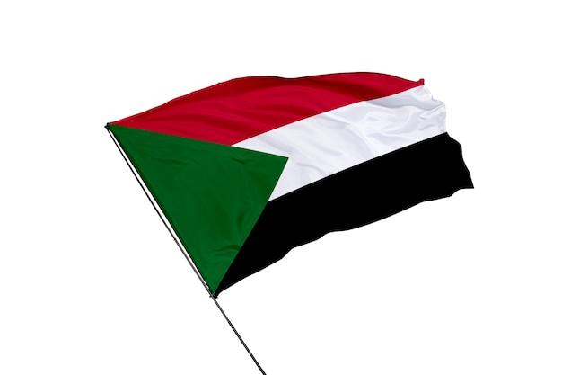 Bandeira do sudão em um fundo branco