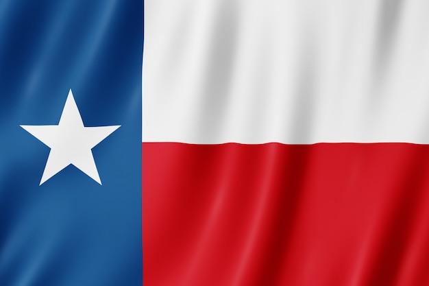 Bandeira do texas, eua. ilustração 3d da bandeira do texas acenando.