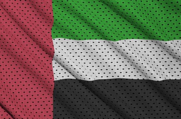 Bandeira dos emirados árabes unidos impressa em um sportswear de nylon poliéster