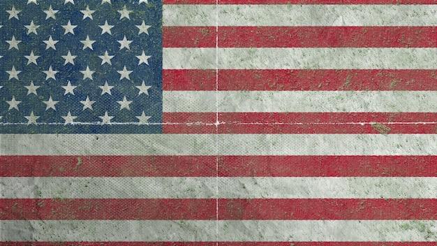 Bandeira dos estados unidos da américa - bandeira de estilo vintage
