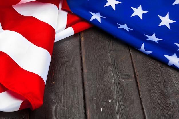 Bandeira dos estados unidos da américa em madeira
