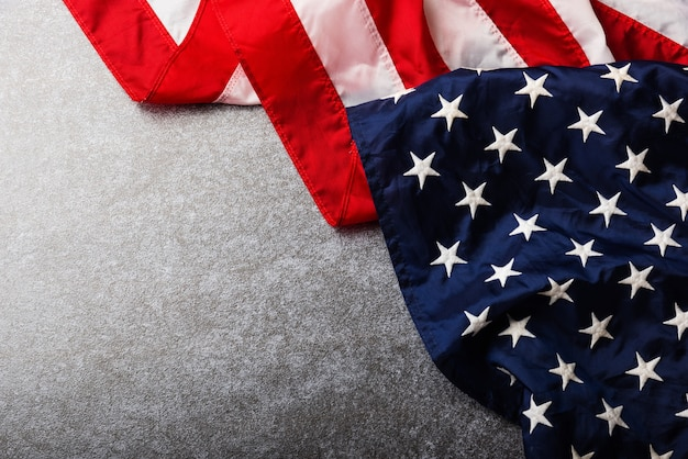 Bandeira dos estados unidos da américa, veteranos dos eua ou conceito do dia da independência