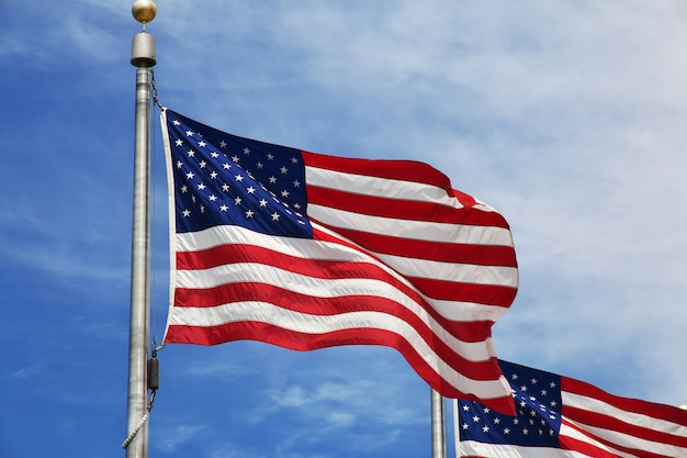 Bandeira dos eua, cidade de washington, estados unidos