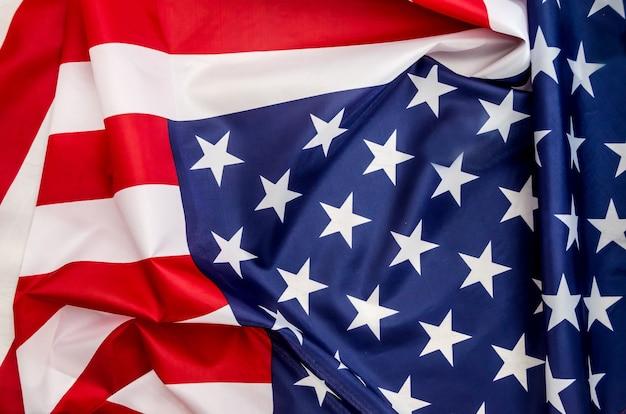 Bandeira dos eua com onda de perto
