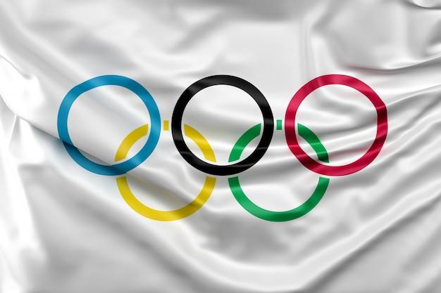 Bandeira dos jogos olímpicos