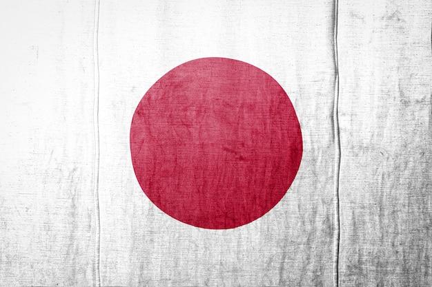 Bandeira em fundo de textura de tecido.