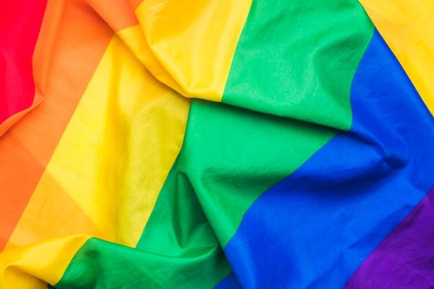 Bandeira gay de arco-íris brilhante