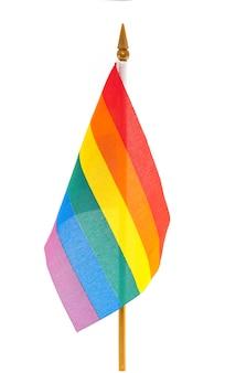 Bandeira gay do arco-íris de lgbt do desktop isolada