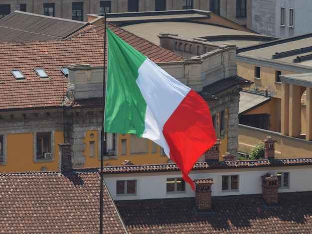 Bandeira italiana da itália