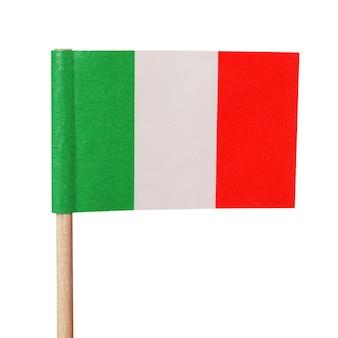 Bandeira italiana isolada