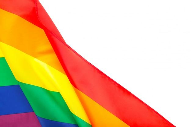 Bandeira lgbt arco-íris isolada