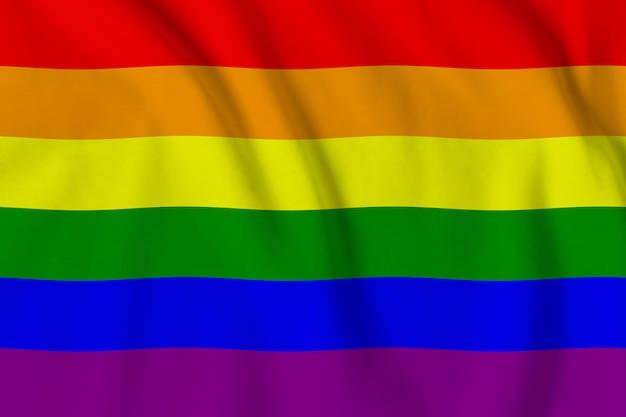 Bandeira lgbt da comunidade de lésbicas, gays, bissexuais e transgêneros