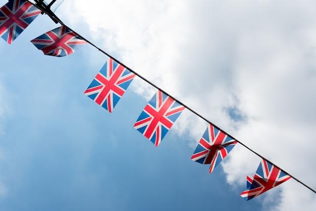 Bandeira nacional britânica e inglesa no restaurante e pub, londres