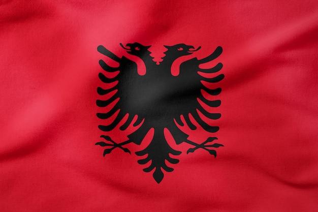 Bandeira nacional da albânia - forma retangular